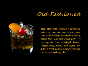 FINAL old fashioned